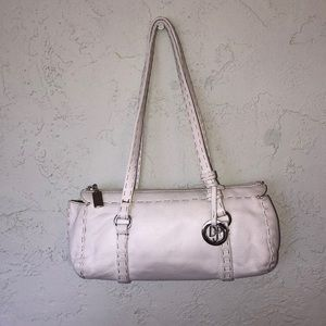 DONALD PLINER SMALL WHITE LEATHER Day  Bag